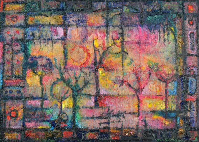 Alberi-alla-finestra-2008-tecnica-mista-su-tela-50x70