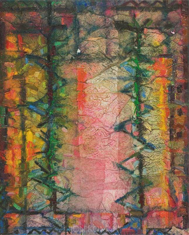 Finestra-con-le-righe-2008-tecnica-mista-su-tela--30x24