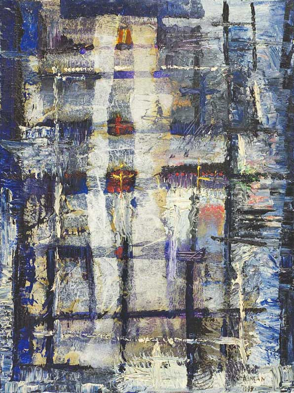 Pioggia-alla-finestra-1994-tecnica-mista-su-tela-40x30